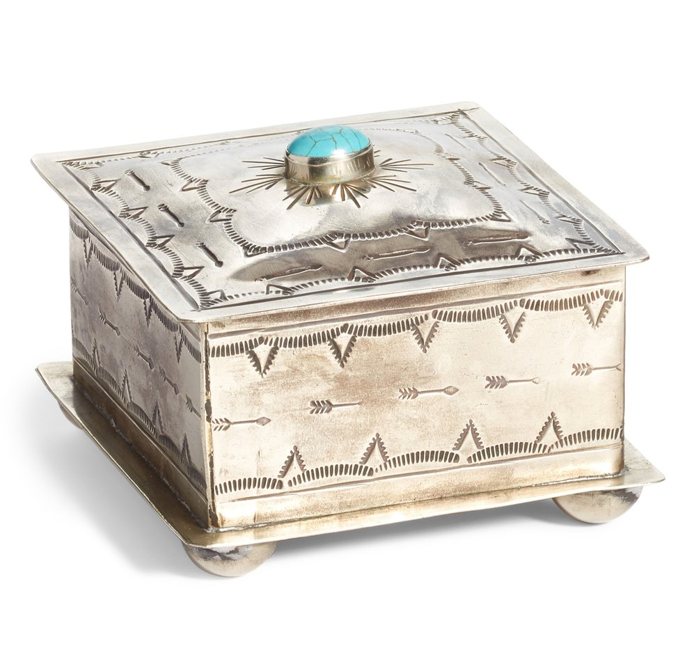 J. ALEXANDER_SQUARE STAMPED BOX W TURQUOISE_$95.jpg