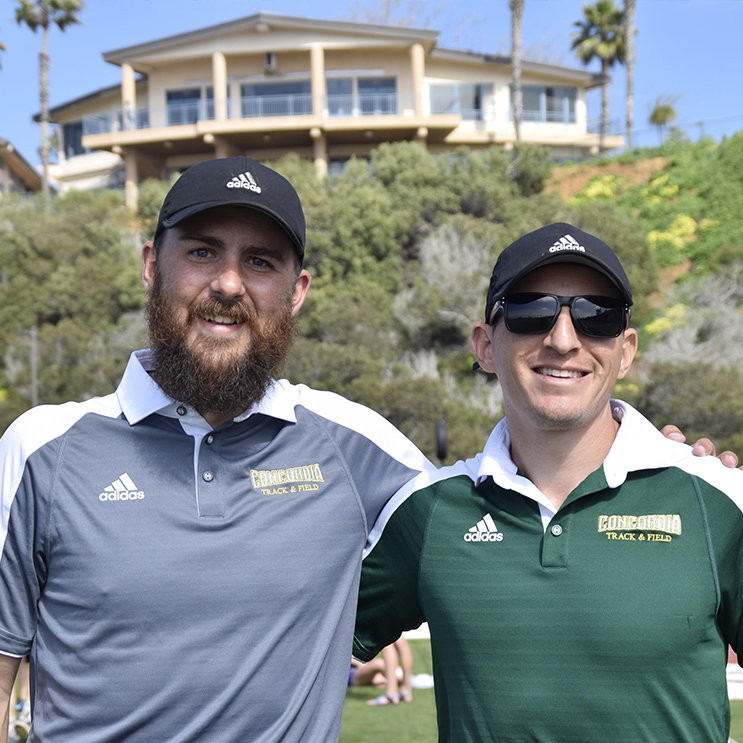 Coach Jabaz and Coach Bloomfield at Concordia University Irvine