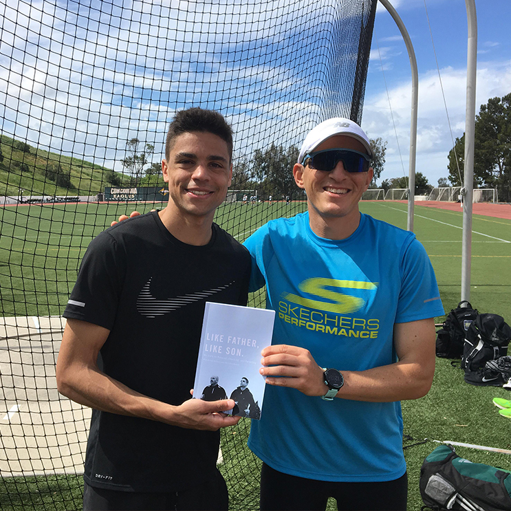 Jabaz training with Matthew Centrowitz