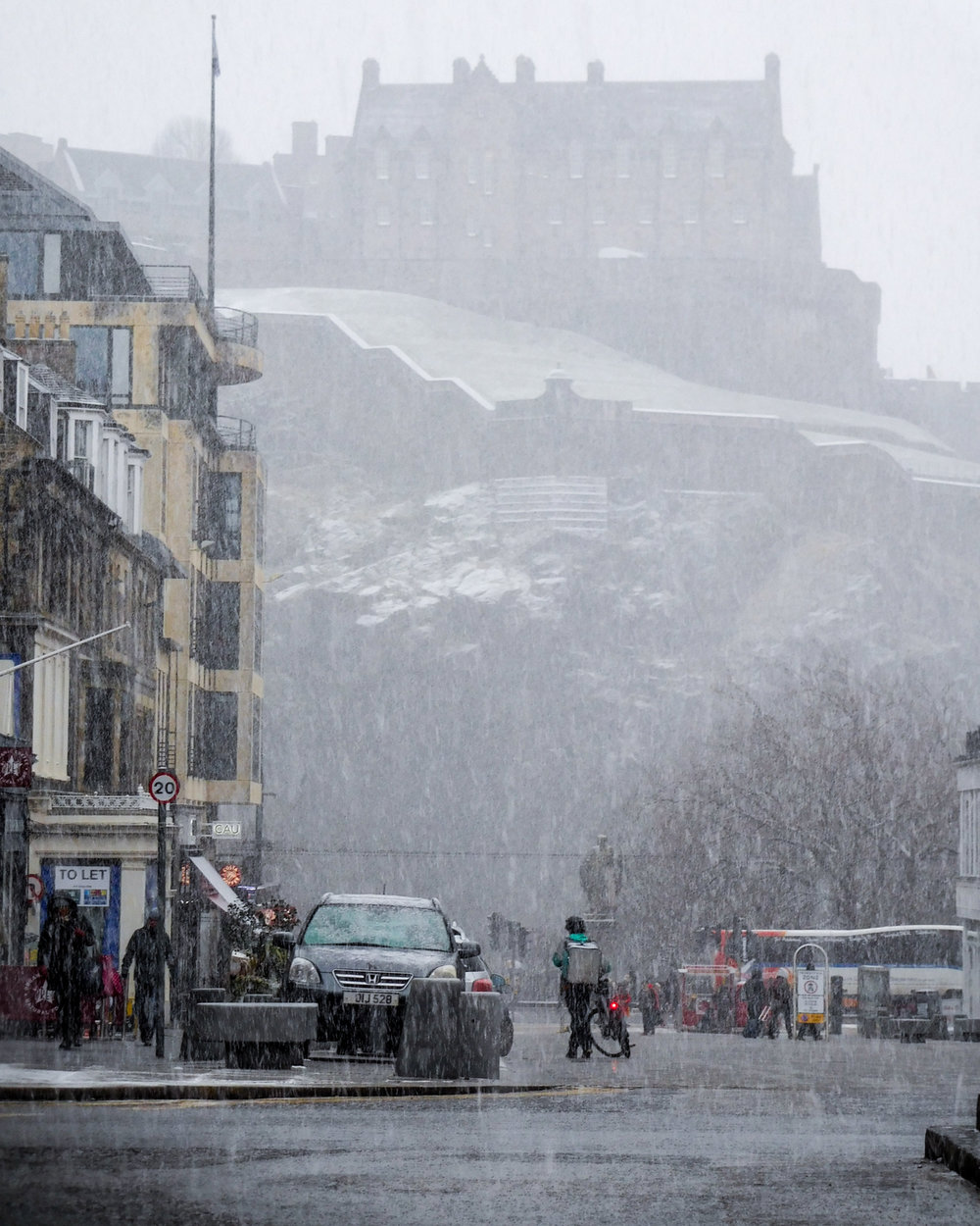 Snow in Edinburgh, February 2018