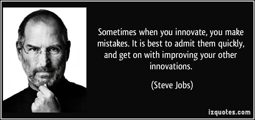 Steve Jobs' quote on innovating quickly. Source: IZ Quotes