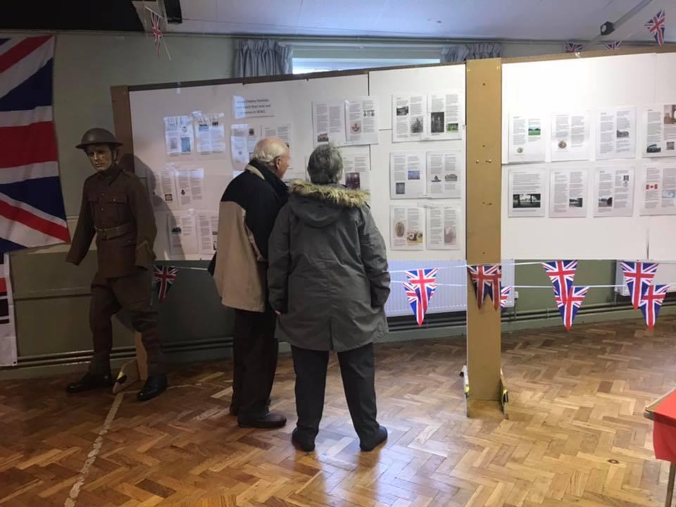 WW1 Exhibition in Village Hall Nov 2018