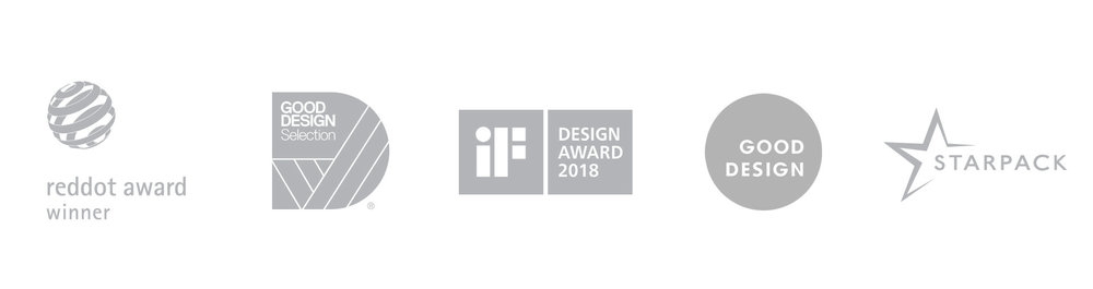 Reddor design award - Good design award - iF design award - Starpack - logos