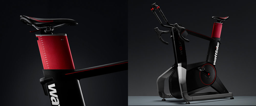 Wattbike - curventa - atom - sports - indoor training - cycling - pro - iF design award - performance - photography - in use - tablet