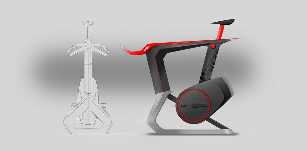 Wattbike Atom | Key concept sketch