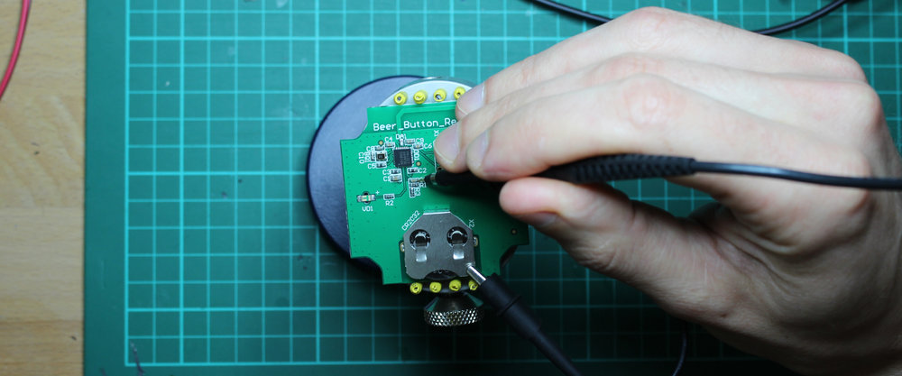 Beer Button | Electronics development and testing