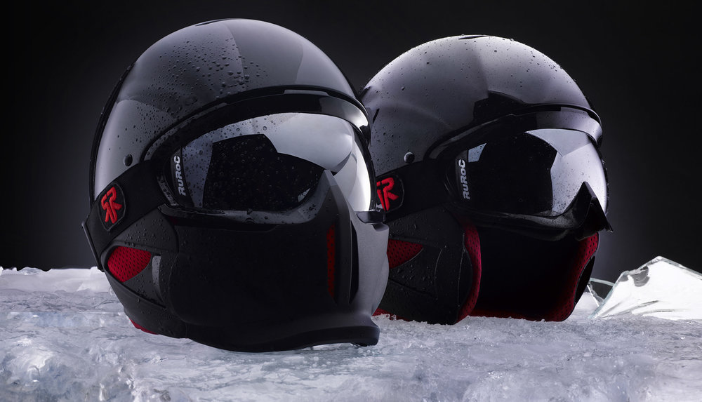Ruroc - RG1 - Curventa - helmet - snow - snowboarding - sports - overview - black - red