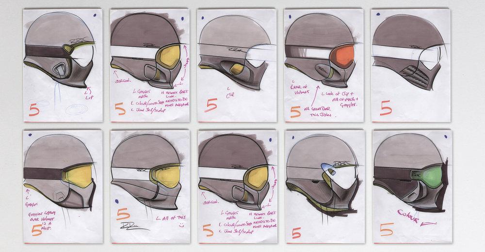 Ruroc RG1   Initial sketch concepts