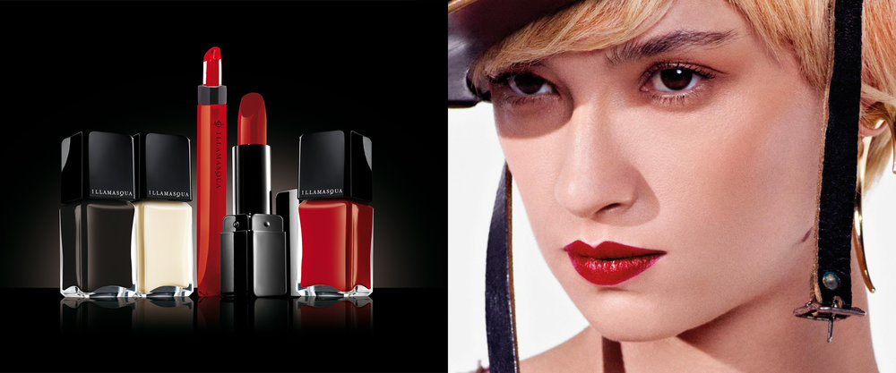 Illamasqua - curventa - makeup - range - brand - beauty - photography - lipstick - nail polish