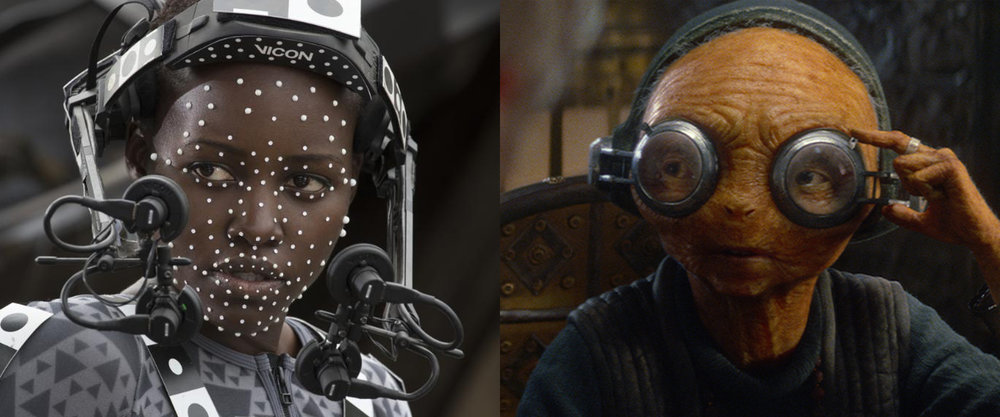 Vicon Cara | Lupita Nyong'o playing 'Maz' Kanata in Star Wars : The Force Awakens.