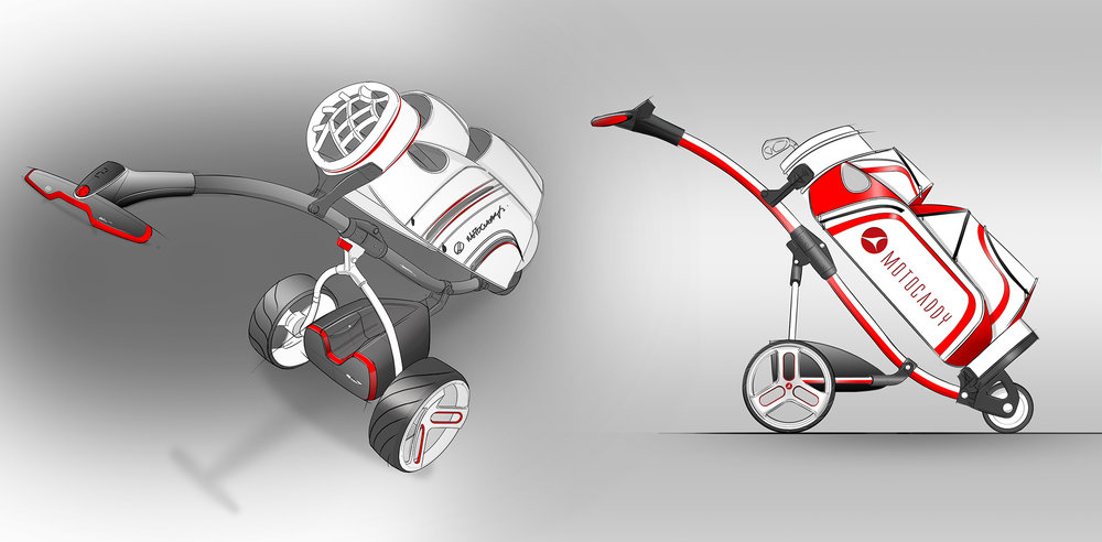 Motocaddy M1 Pro |Early sketch concepts
