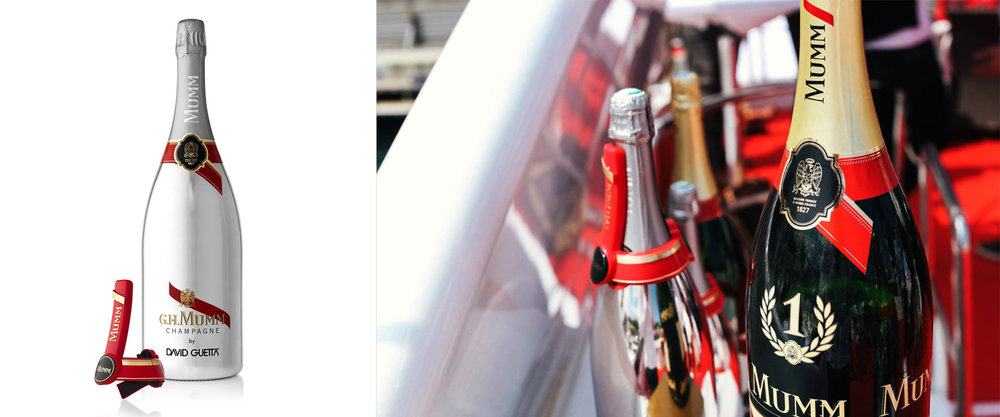 G.H.Mumm - connected bottle - Launched at Monaco Grand prix - 2015