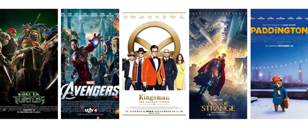 Curventa - vicon - cara - ninja turtles - marvel avengers - Kingsman - doctor strange - paddington