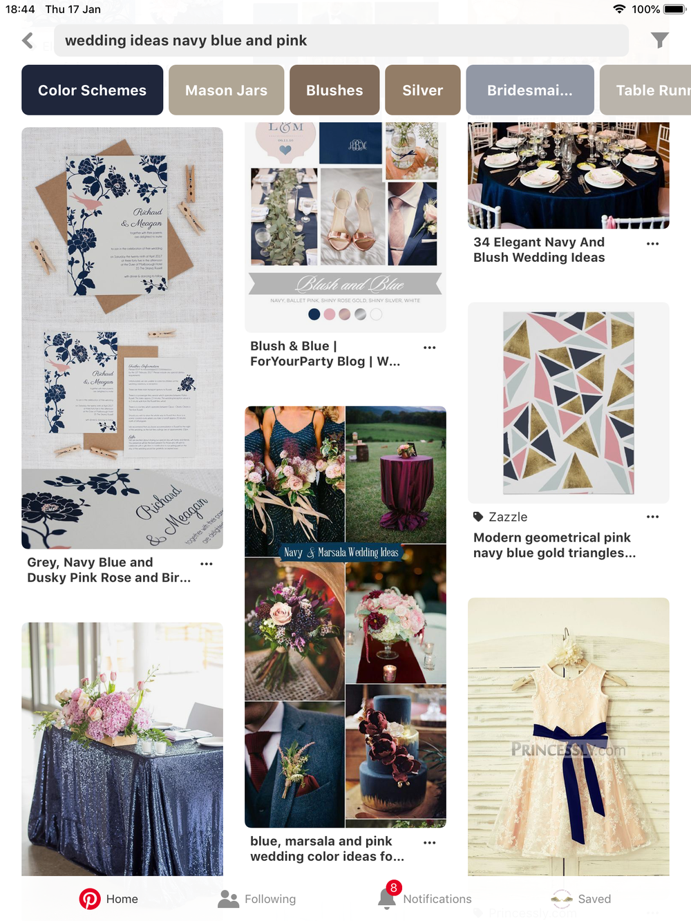 Pinterest is a great source of ideas to help you plan your wedding