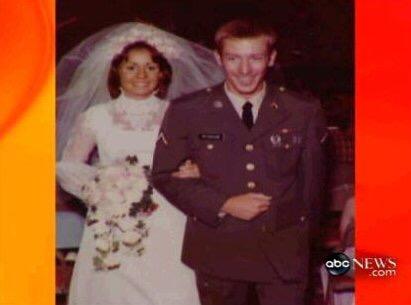 Carol and Drew on their wedding day