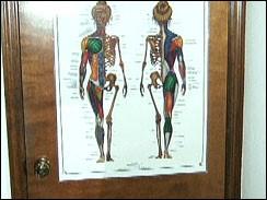 Poster on the back of the Brandt's bedroom door