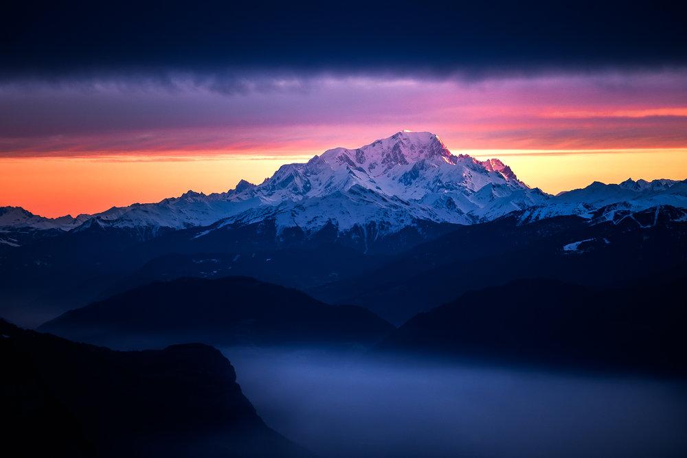 Le Mont-Blanc - Janvier