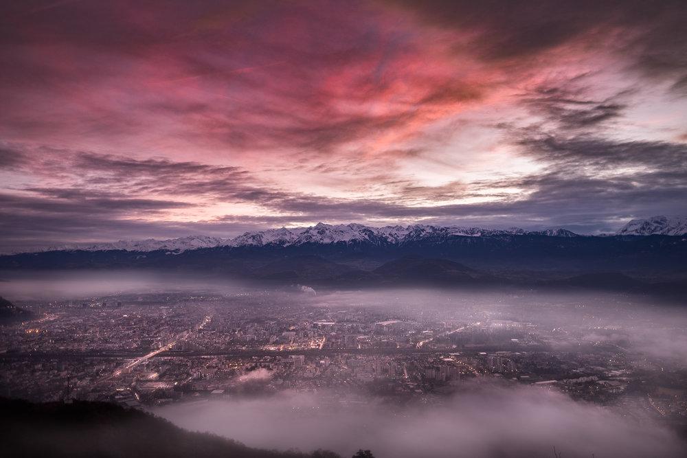 Grenoble au petit matin - Mars
