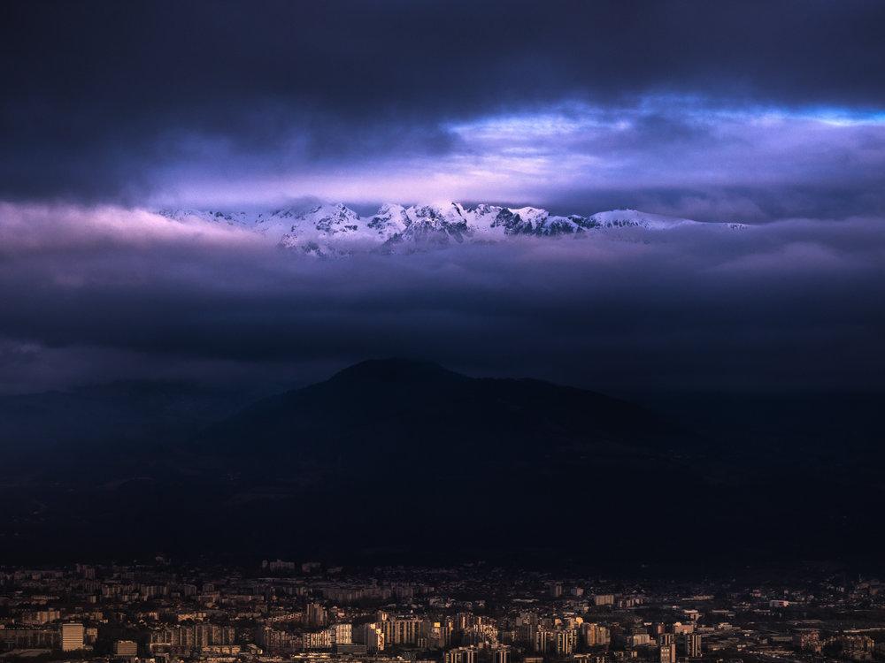Grenoble & La chaîne de Belledonne - Novembre