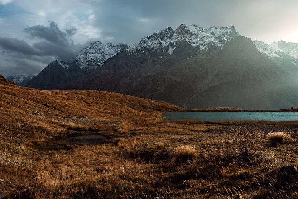 La Meije & Le lac du Pontet - Octobre