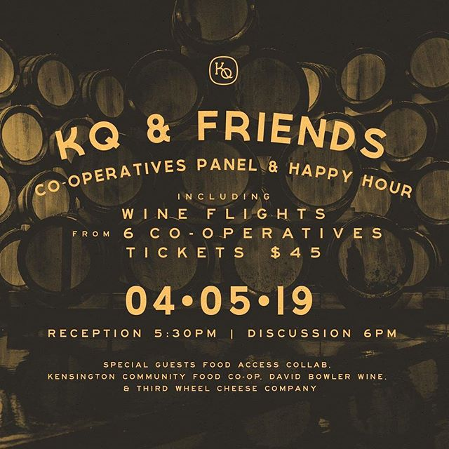 Looking forward to participating in this panel on cooperatives @kensingtonquarters (and sharing some great local cheese!) next Friday night. Hope to see you there! Tix available on KQ's website