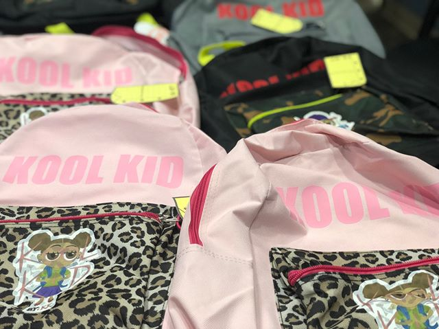 Is your kid a KOOL KID?! These #custom #vinyl #transfer book bags will have you kids racing back to school (in style)!