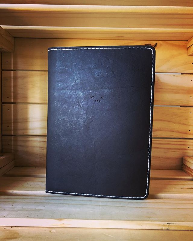 This custom refillable slim journal was requested with an interesting inscription - love the minimal aesthetic it has. • • • • #leather #leathercraft #journal #notebook #diary #sketchbook #bulletjournal #rustic #handmade #minimal #artisan #travel #adventure #outdoors #minimalism