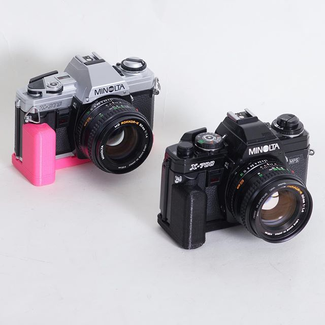 Available on cameradactyl.com, grips for the Minolta X-700, X-370, and X-570. . . .  #minolta #x700  #x570 #x370  #minoltax700  #minoltax370 #minoltax570  #minoltacamera  #buttergrip #shootfilm #analogphotography #canonf1n  #nikonf3 #rangefinder #slr #slrcamera #nikonFE #nikonFM #pentax #cameragrip #yashicaelectro #canon7 #leica #kameracraft  #cameracult  #35mmphotography