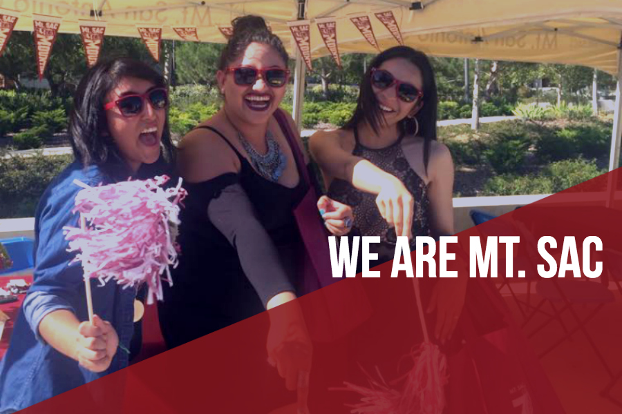"Three Mt. SAC Employees with ""We Are Mt. SAC"" overlay"