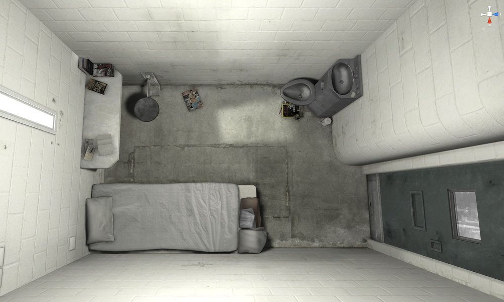 A solitary confinement cell © E.Thomas The Guardian