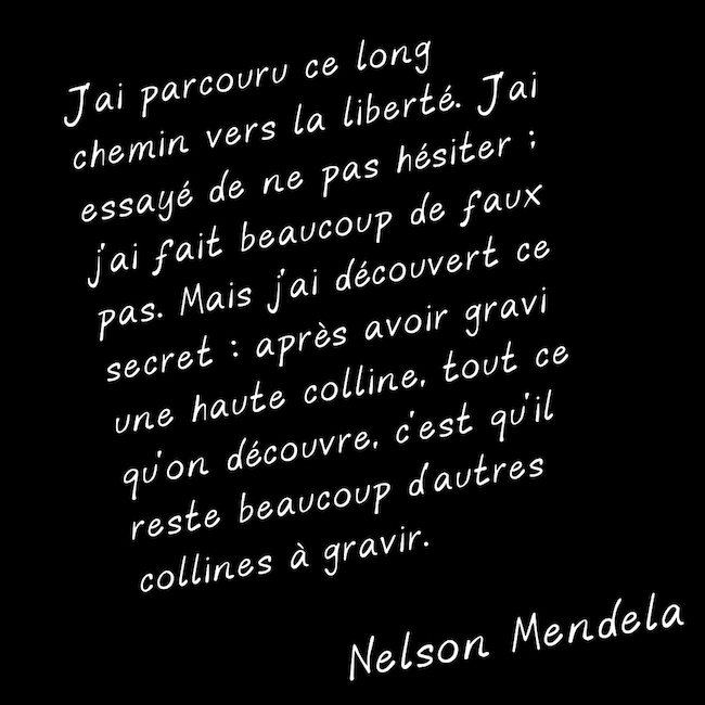 Citation de Nelson Mendela sur la Liberté