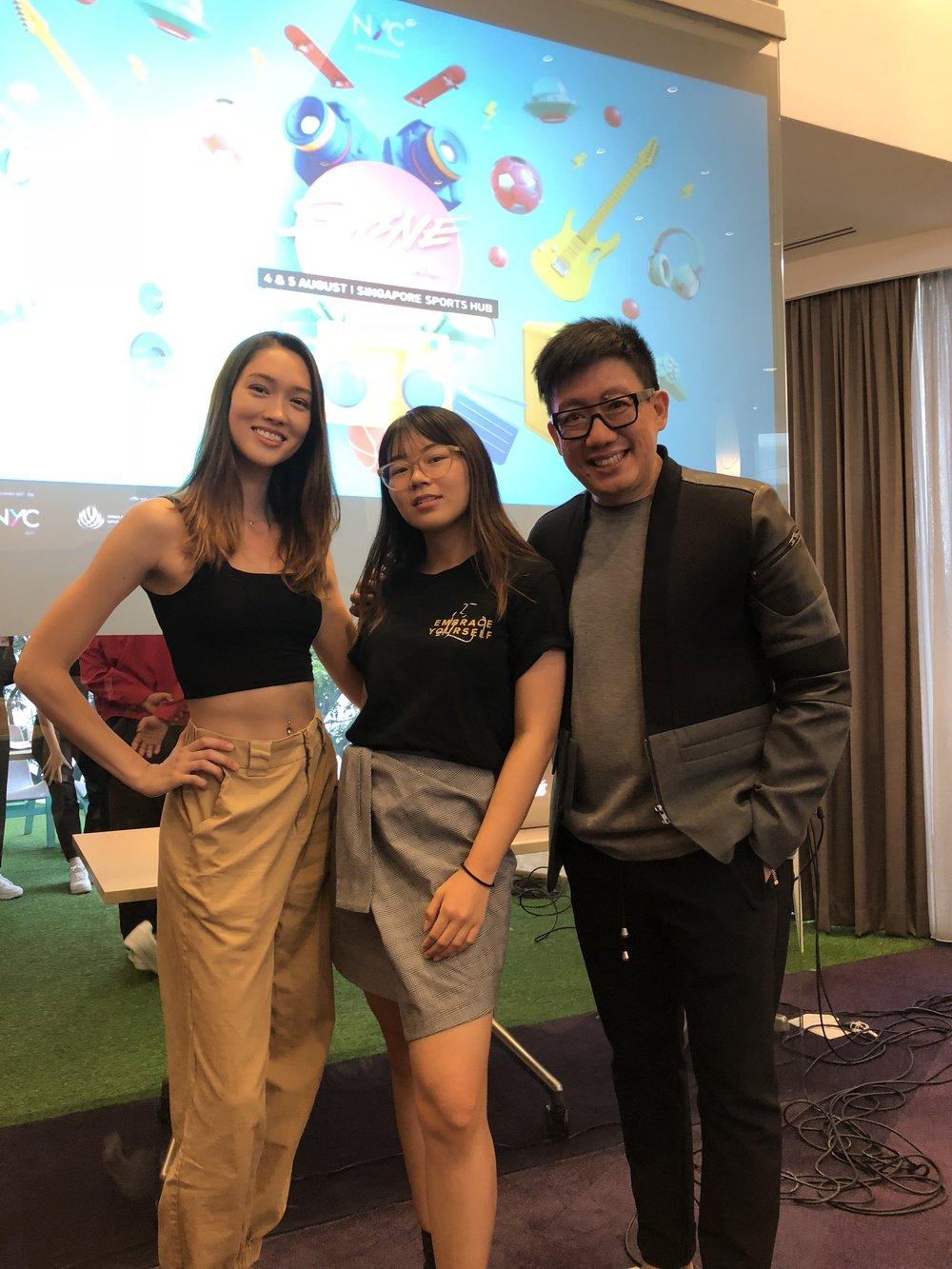 Aimee Cheng Bradshaw, me, and Daniel Boey