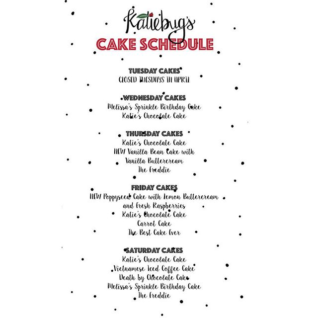 There's lots of variety on this week's cake schedule. Hopefully you'll find something you ❤️!