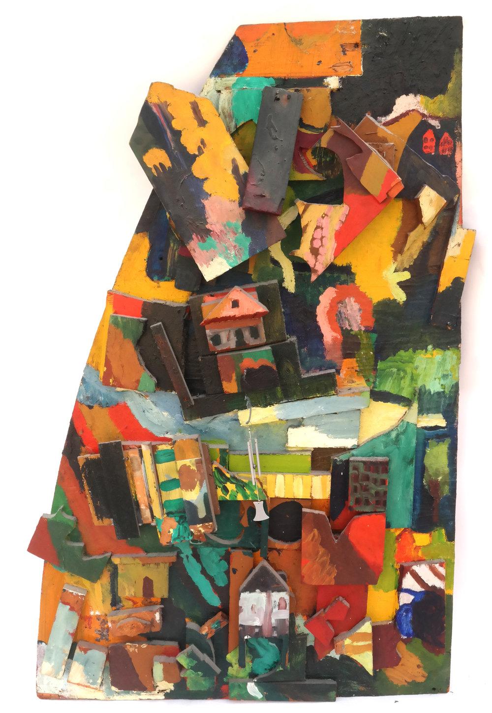 Lot 13 - Shirley Kaplan, Small Village