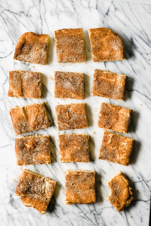 Gluten-Free Bourbon Snickerdoodle Blondies