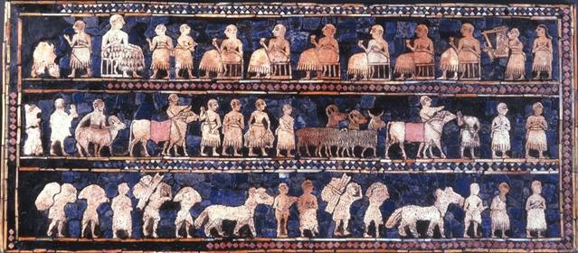 (Discovered in Ur 1929). British Museum London