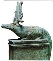 Ezekiel refers to the  Egyptians as a Crocodiles. Crocodiles were the rulers of the land & the sea. The Pharaohs thought of themselves that way as well.