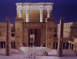 The entrance to the Beit HaMikdash – King Solomon's Temple according to one interpretation.