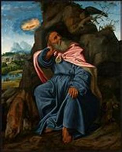 Giovanni Girolamo Savoldo Brescian, c. 1480 - 1548 or after  Elijah Fed by the Raven , c. 1510 Oil on panel transferred to canvas, 168 x 135.6 cm (66 1/8 x 53 3/8 in.) Samuel H. Kress Collection 1961.9.35