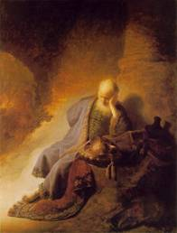 Jeremiah – The weeping prophet by: Rembrandt