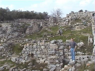 """The ruins of King Ahab's """"ivory house"""" palace on the hill of Samaria,Capital of the Northern Kingdom of Israel during his reign."""