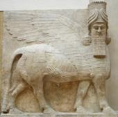 Winged Bull protecting the Kings Temple in Babylonia