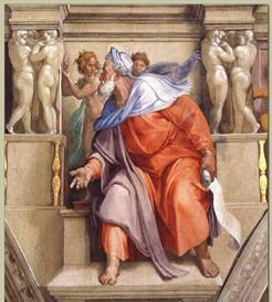 """The Prophet Yechezkel"" by Michelangelo, the Sistine Chapel"
