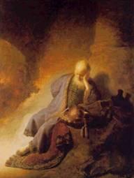 Rembrandt's depiction of Jeremiah