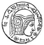 An engraving inside an onyx-stone-eye in a Marduk statue that might depict Nebuchadrezzar II