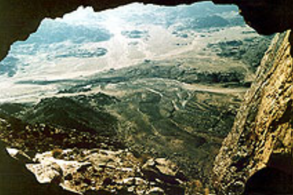 Possibly, the view from the cave at Mount Sinai that Eliyahu went into.