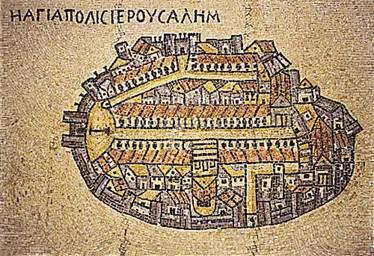 The oldest map of Jerusalem; the Madaba Map