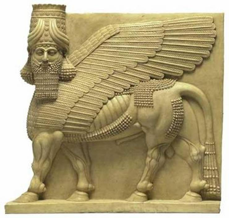 Assyrian Winged Bulls protected the Kings palace