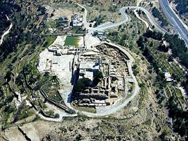 Aerial view of the Tomb of Samuel the Prophet
