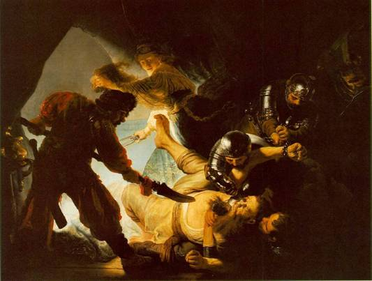 The Blinding of Samson- By Rembrandt